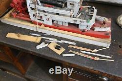 Vintage Handmade Folk Art Wood Steamer Steam boat model Paddle Antique Maritime