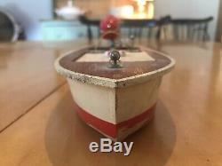 Vintage Japanese Wooden Toy Model Boat Vintage Toy Outboard Motor Sakai Motor