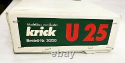 Vintage Krick U25 Submarine R/C Model Kit #20220 (Unterseeboot U25) Wood/Plastic