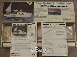 Vintage MIDWEST PRODUCTS The MAINE LOBSTER BOAT Wood Model Kit