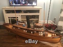 Vintage Midwest Products Electric Seguin Steamer Tugboat Wood Model Boat