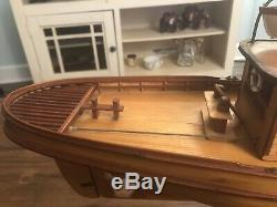 Vintage Midwest Products Electric Seguin Steamer Tugboat Wood Model Boat