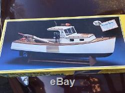 Vintage Midwest Products R/C Boothbay Lobster Fishing Boat, wooden model kit