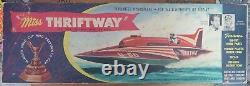 Vintage Miss Thriftway of Washington State U-60 Hydroplane Boat Model Incomplete