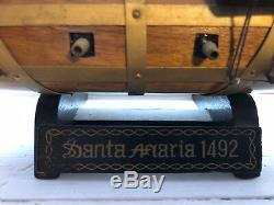 Vintage Model Boat Santa Maria 1492 17.5 x 20