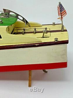Vintage Model Motor Boat ITO Japan Wood Original Box Miss Great Lakes TMY 192397