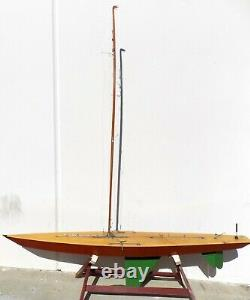 Vintage Model Pond Yacht Sailboat 65 Inch Long Boat A Class R/C