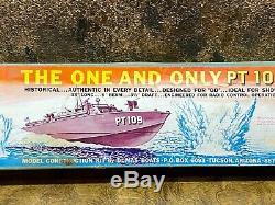 Vintage NOS US NAVY PT 109 Wooden Torpedo Patrol Boat Wood Model Kit IN BOX 33