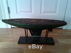 Vintage Rare Jacrim Seaworthy Boats Toy Model Wooden Pond Yacht Sail Boat 2