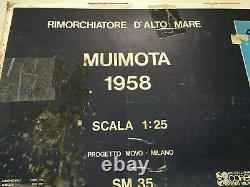 Vintage Rare MUIMOTA 1958 Scale 125 Wood Model Ship Kit made in Italy NOS