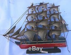 Vintage Sailing Ship Boat Model Wood Cuttysark 1869 (sh1120)