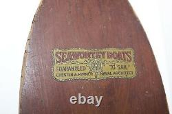 Vintage Seaworthy Boats 1920'S 30s Flying Yankee Model Wooden Boat As Found