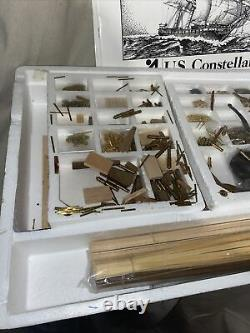 Vintage US Constellation Model Ship American Frigate 1798, 185 Scale