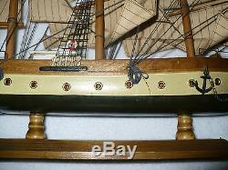 Vintage Wood Model Ship Boat Gorch Fock Assembled