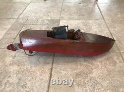 Vintage Wood Toy Seaworthy Boat Model 65