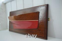 Vintage Wooden Half Hull Model Cornwall Fowey Lugger Maritime Nautical Boat