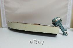 Vtg Evinrude Big Twin Outboard Toy Boat Motor K & O on 15 Model Wood Boat