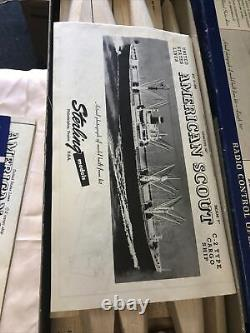 Vtg. Sterling Models American Scout C-2 Type Cargo Ship Wood Model Kit