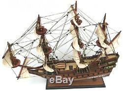 Wasa Wood Wooden Nautical Model Ship Boat 20L Vehicle Swedish Navy Display NEW