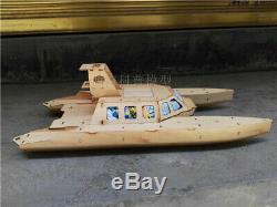 Wind Catamaran Rescue boat vector steering Wooden model ship kit RC model