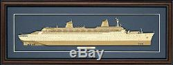 Wood Cutaway Model of SS Norway Made in the USA