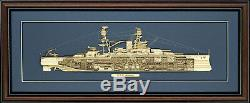 Wood Cutaway Model of USS Arizona (BB-39) Made in the USA