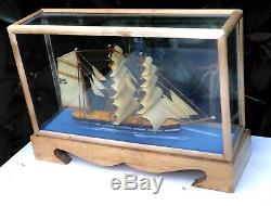 Wood Wooden Union Flag United Kingdom British Ship Boat Marine Diorama Model