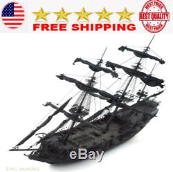 Wood ZHL the black Pearl pirates version ship boat kits model wooden ships toy