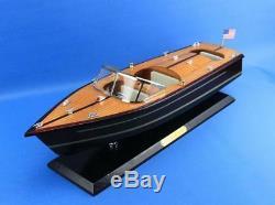Wooden Chris Craft Triple Cockpit Model Speedboat 20 Fully Assembled Speed boat
