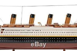Wooden Titanic Painted Small Model Ship