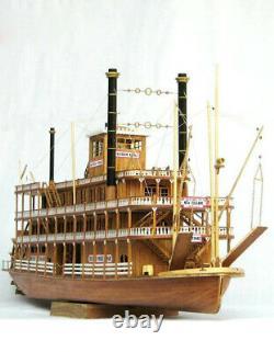 1100 Classique Navire En Bois Navire À Vapeur Uss Mississippi Kit Modèle Bateau En Bois