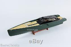 118 Bateaux De Course En Bois De Type Yacht À Moteur De Luxe Wally Power, Modèle Rc Ready 36