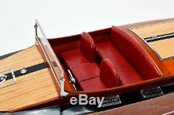 1930 Chris Craft Mahogany Runabout 36, Maquette De Bateau En Bois, Échelle 18 Rc Ready