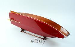 1930 Chris Craft Runabout Mahogany 36 Modèle Bateau En Bois Classique Échelle 18