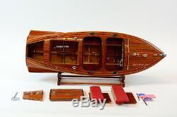1940 Chris Craft Barrel Retour Acajou Runabout Classique Modèle Bateau 28,5 Rc Prêt