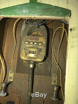 1950santique Rare En Bois Motorisé Bateau Tmy & Rare Modèle Lightselectric Inboard