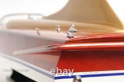 1955 Chris Craft Cobra 21 Foot Runabout Wood Modèle 33 Speed Boat Acajou Neuf