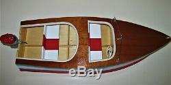 1955 Idéal Barracuda Runabout Bois Modèle Bateau À Moteur De Stand Construit À La Main