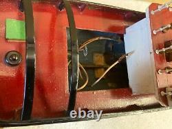 1960s Vintage Modèle Jouet Tug Bateau Billy Batterie Construction En Bois Alimenté