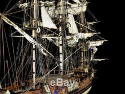 1/30 Échelle Kit De Modèle De Navire Hms Royal Caroline Du Bois 1749 Kit Voilier En Bois