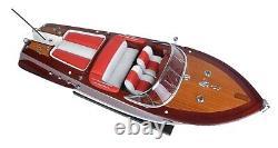 26.5 Moyen Riva Aquarama Rc Speedboat Modèle En Bois Assemblé Toy Speed Boat Cadeau