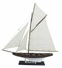 27 3/16in- Grande, Yacht Décoratif, Voilier, Modèle De Bateau Yacht Voile En Bois