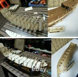 32 Grand, Décoratif Diy Handmade Assembly Ship Scale Wooden Sailing Boat Model