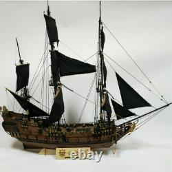32 Inch Diy Wooden Pirate Ship Modèle Handmade Assembly Boat Building Kits Diy