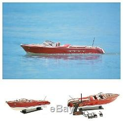 35 Pouces Vintage Speed Boat Modèle Avec Télécommande Moteur 1960 Riva Aquarama