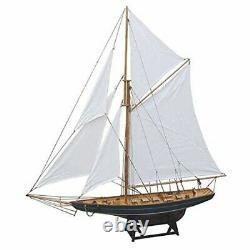 36 5/8in- Grand Yacht Décoratif, Voilier, Bateau À Voile Modèle De Navire Yacht À Voile En Bois