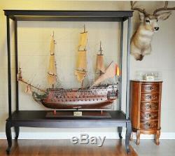 65 Grand Sol Case Défendons XL Tall Ships Modèles De Bateaux D'affichage Collectibles