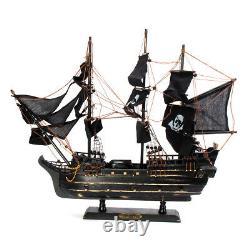 80cm Black Model Pirate Ship Vintage Wood Sailboat Sail Boat, Coupe Laser