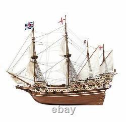Accre Hms Revenge 185 Échelle 13004 Planche En Bois Sur Cadre Modèle Boat Kit