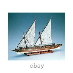 Amati Arrow American Gunboat 155 Scale Model Wood Boat Kit Complet 1422
